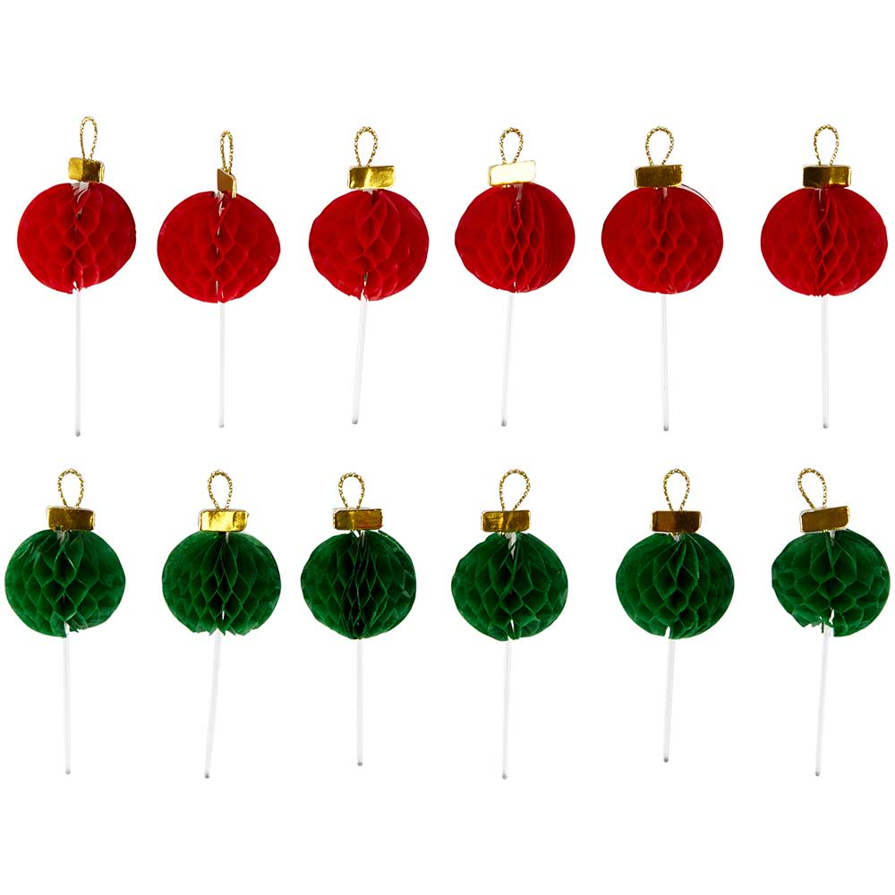 Ornaments Cupcake Toppers