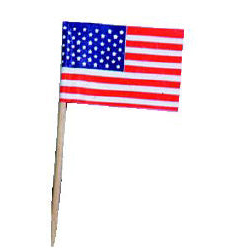 Stars and Stripes Paper Flag Picks