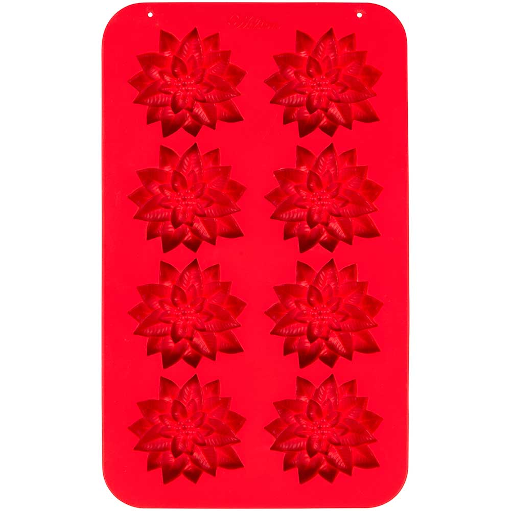 Poinsettia Silicone Candy Mold