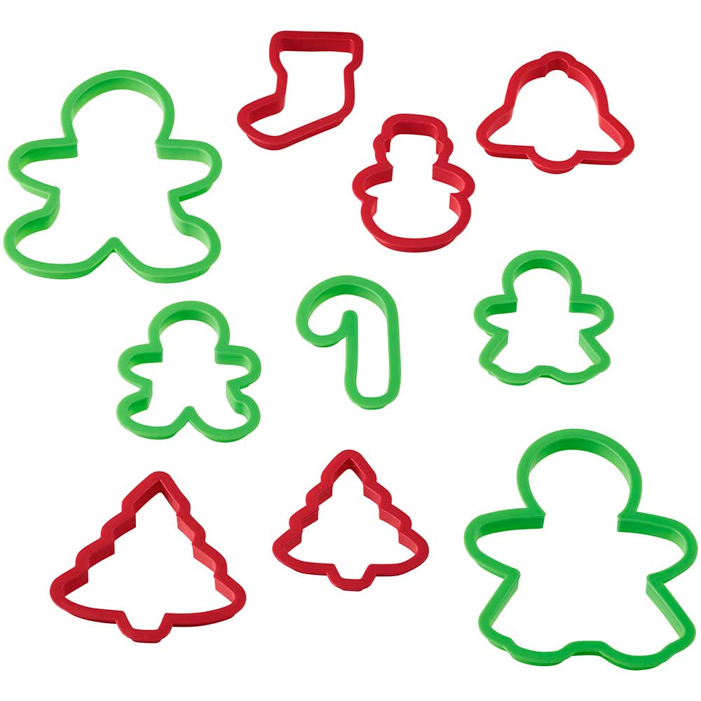 Christmas Plastic Cookie Cutter Set