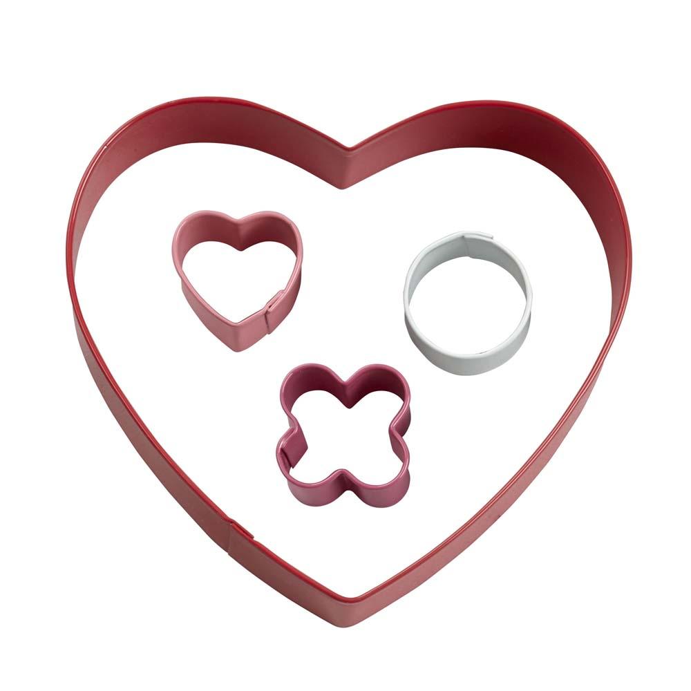 XO Heart Cookie Cutter Set