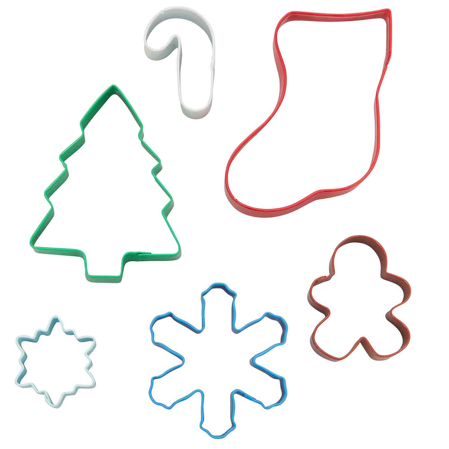 Metal Tin Holiday Cookie Cutter Set