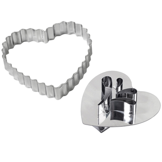 Giant Heart Linzer Cookie Cutter Set