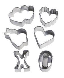 Mini Valentine Metal Cookie Cutter Set