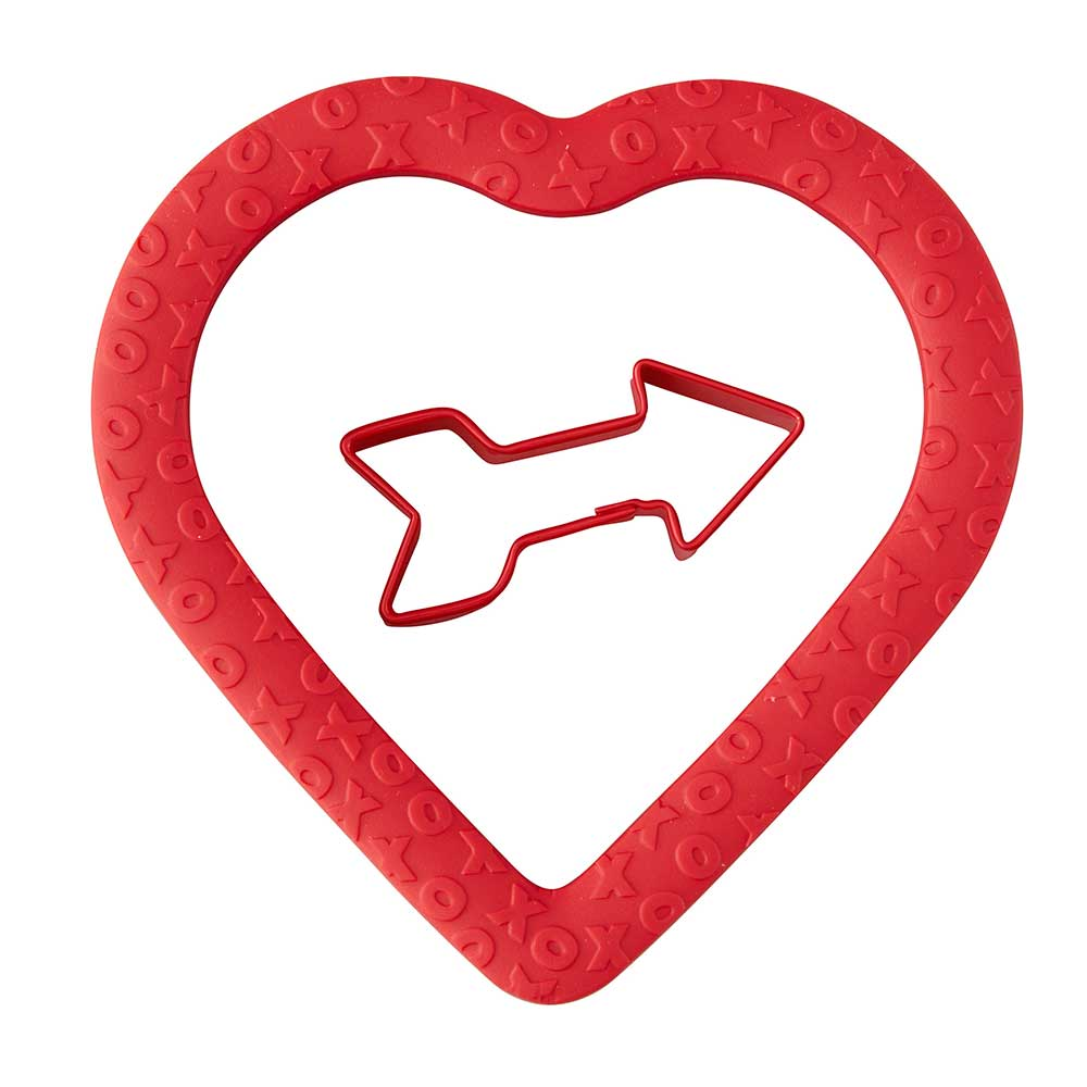 Comfort Grip Heart with Arrow Cookie Cutter Set