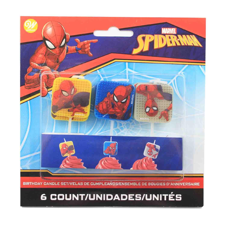 Spiderman Birthday Candles