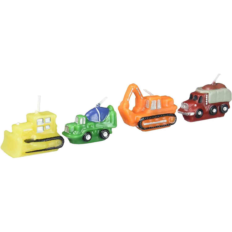 Constructions Vehicles Candle Set