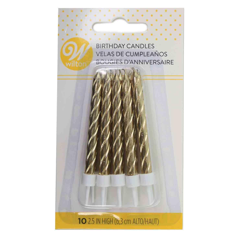 Metallic Gold Candles