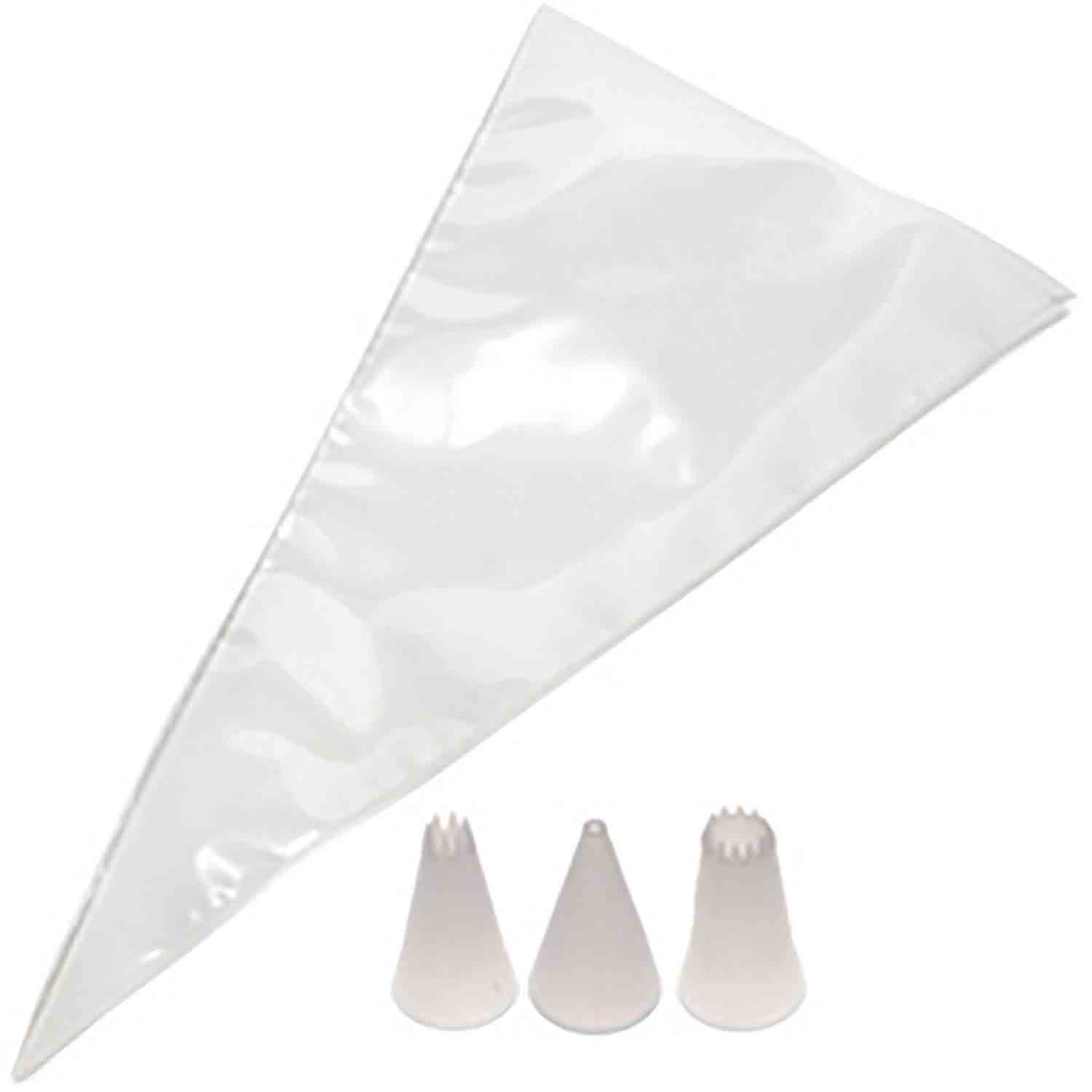 #331 Plastic Tip & Disposable Decorating Bags Set