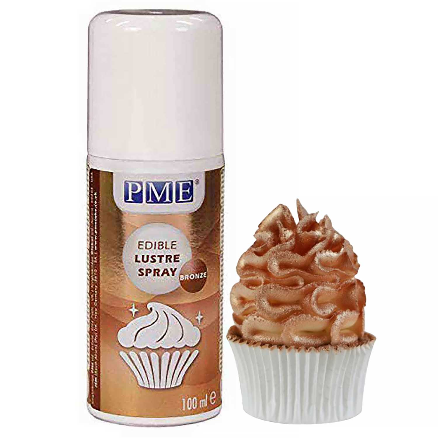 Bronze Edible Lustre Spray