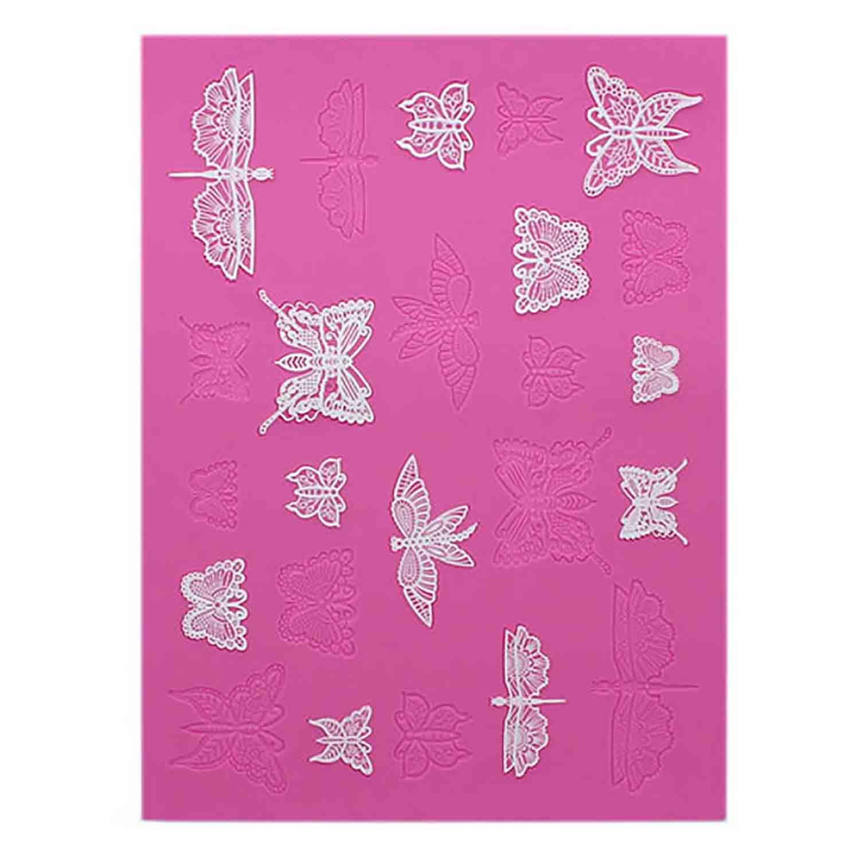 Butterflies Cake Lace Mat