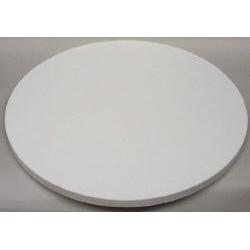 "20"" Round White Cake Serving Stand"