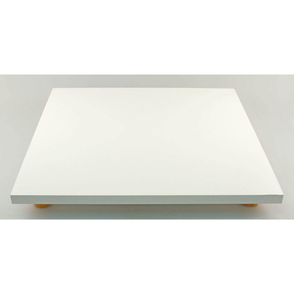 """18"""" Square White Formica Cake Serving Stand"""