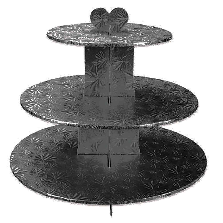 Black 3 Tier Cupcake Stand