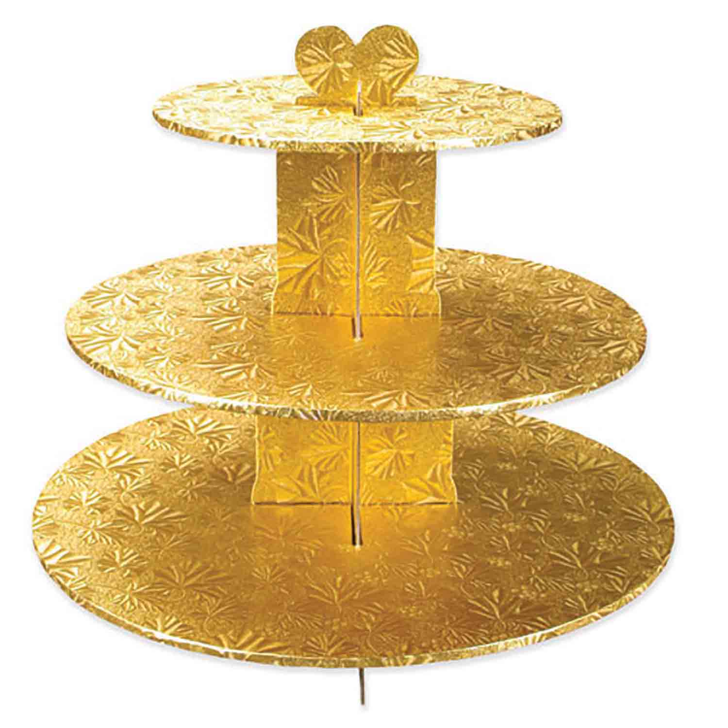 Country Kitchen Fort Wayne: Gold 3 Tier Cupcake Stand - 37-6700G