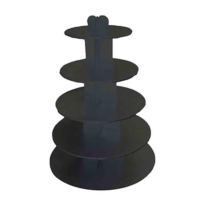Black 5 Tier Cupcake Stand  Black 3 Tier Cupcake Stand  Black 3 Tier Cupcake Stand