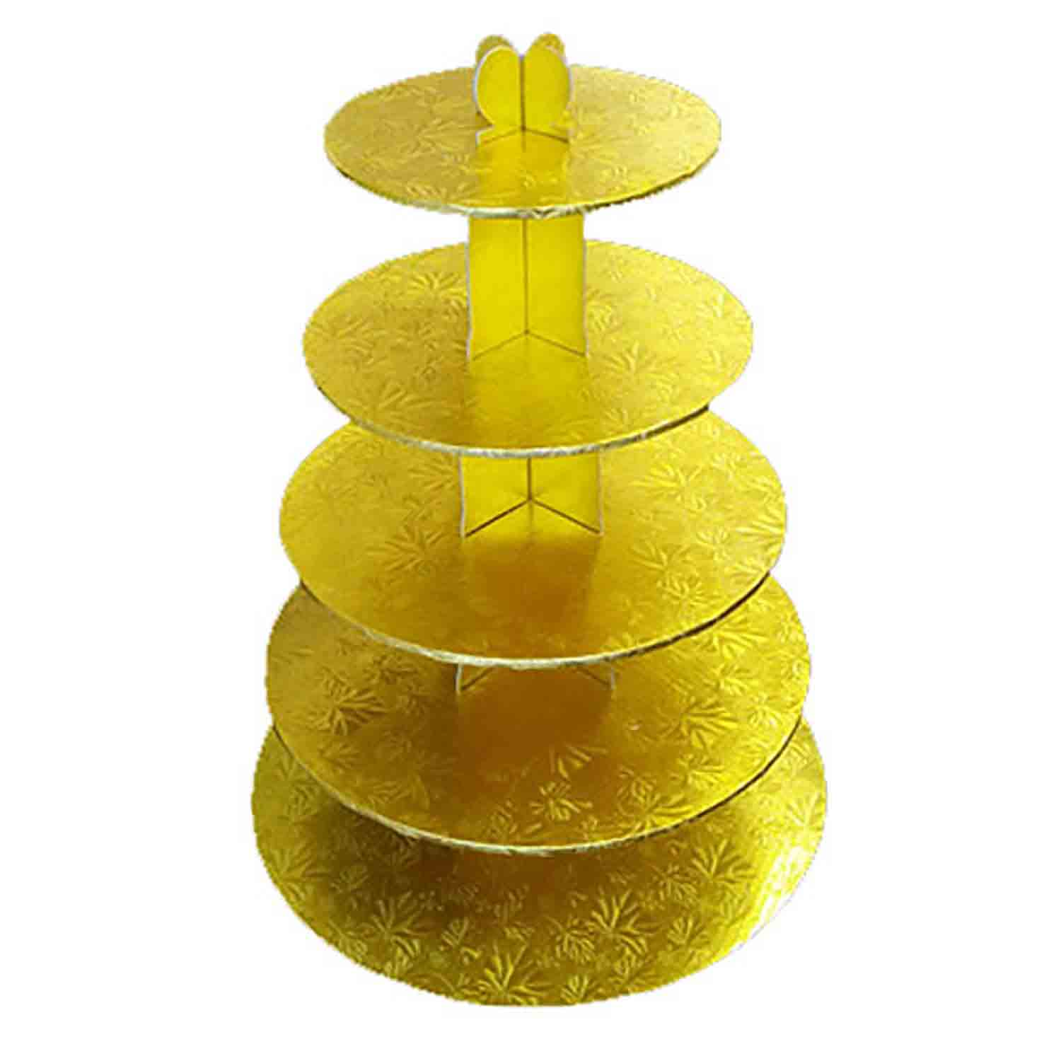 Gold 5 Tier Cupcake Stand