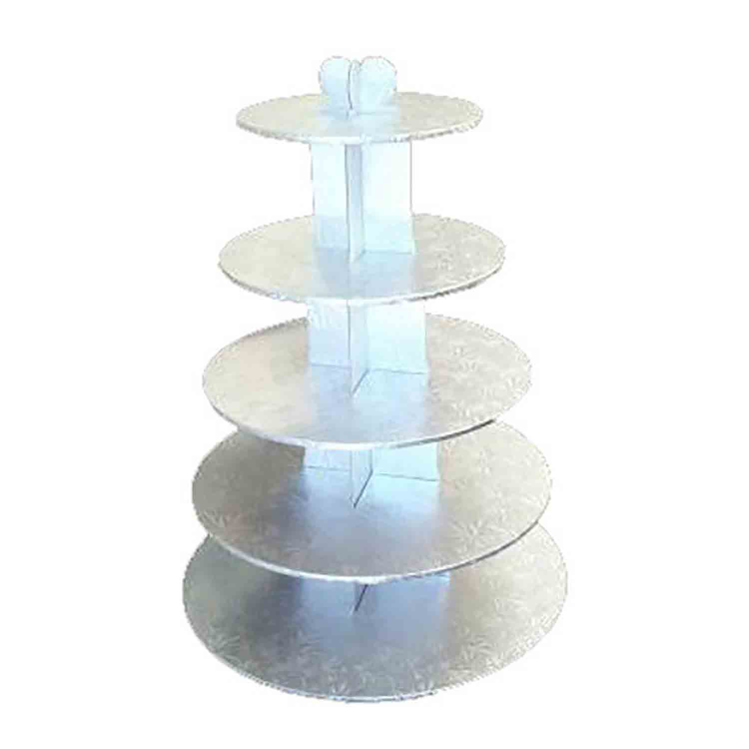 Silver 5 Tier Cupcake Stand