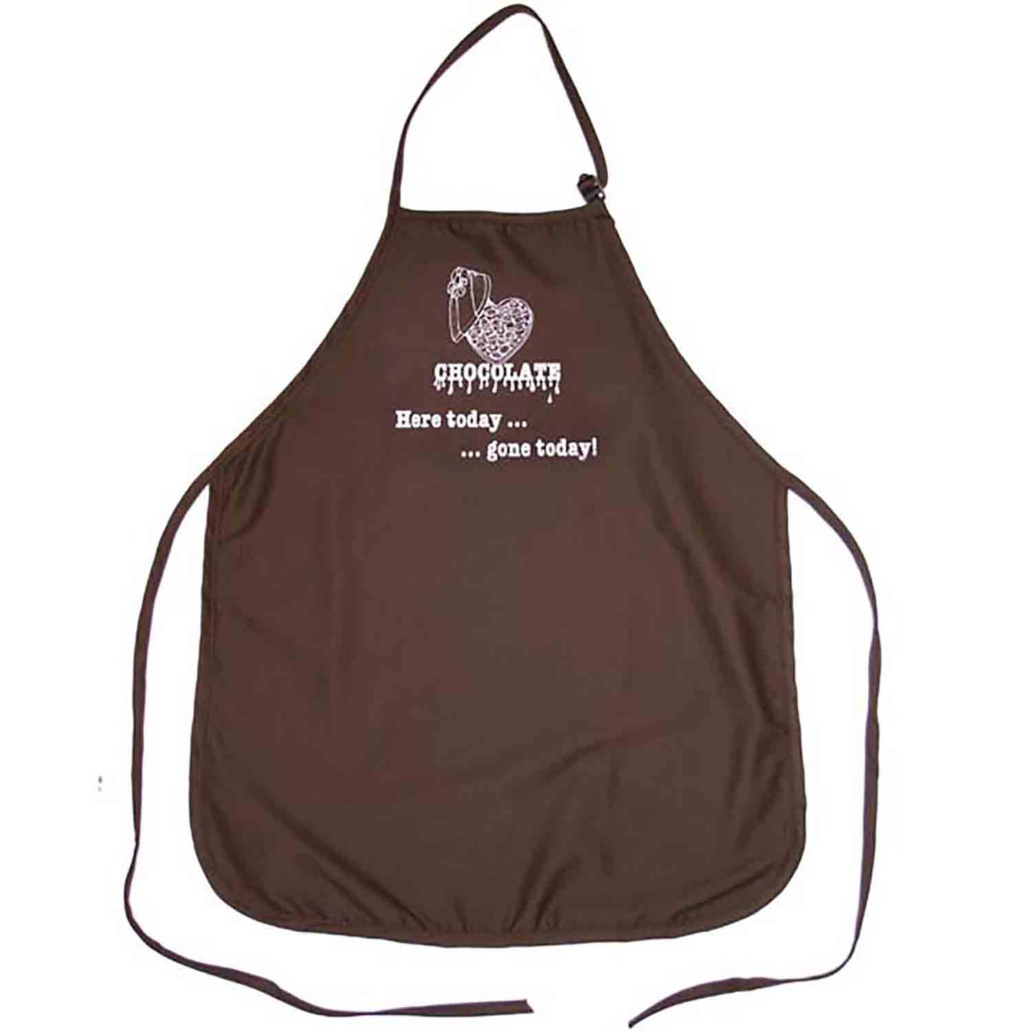Chocolate Here Today…. Apron