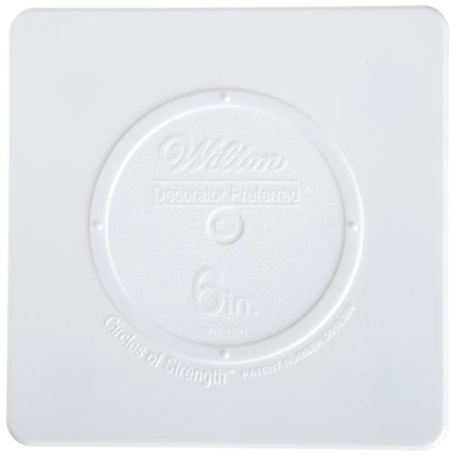 """6"""" Wilton Square White Separator Plate"""