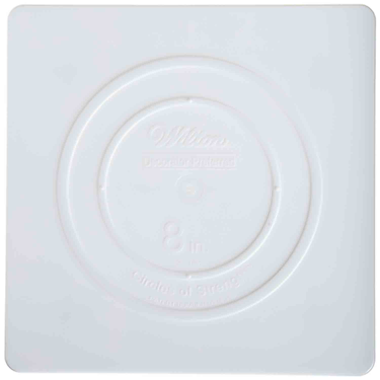 """8"""" Wilton Square White Separator Plate"""