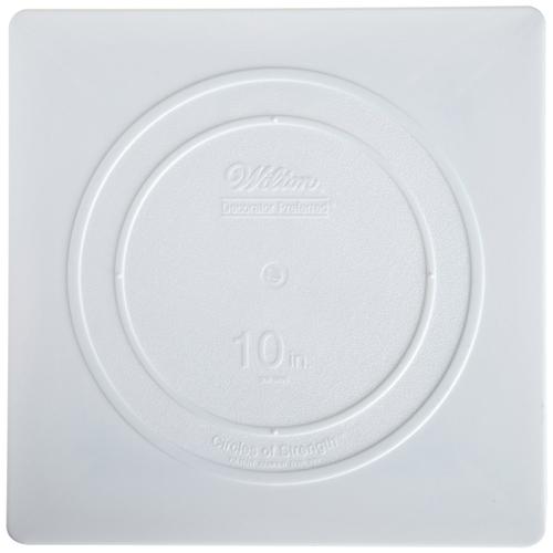 """10"""" Wilton Square White Separator Plate"""