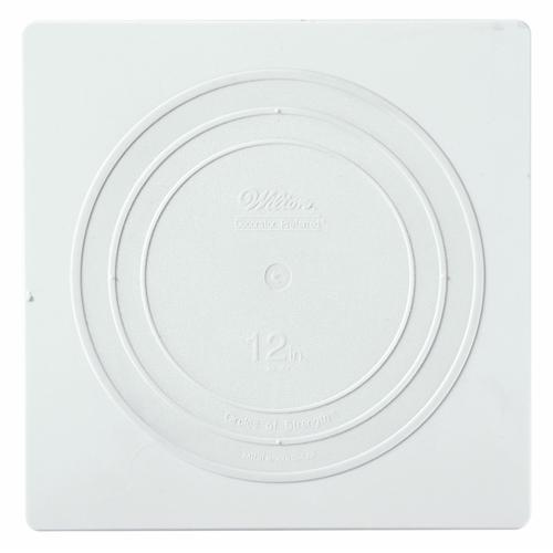 """12"""" Wilton Square White Separator Plate"""
