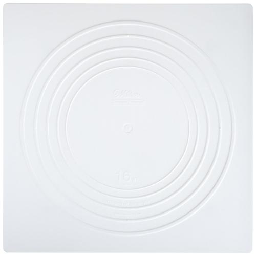 """16"""" Wilton Square White Separator Plate"""