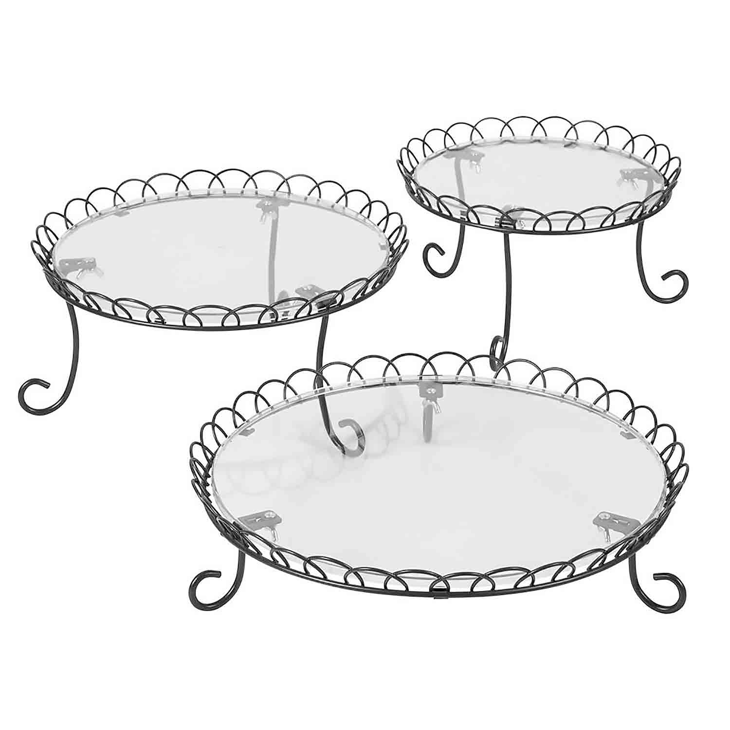 3-Tier Iron Treat Stand Set
