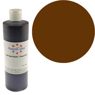 Chocolate Brown Americolor Soft Gel Paste Food Color