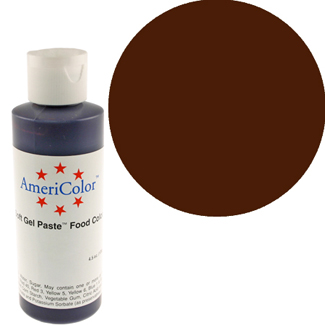 Chocolate Brown Americolor® Soft Gel Paste Food Color