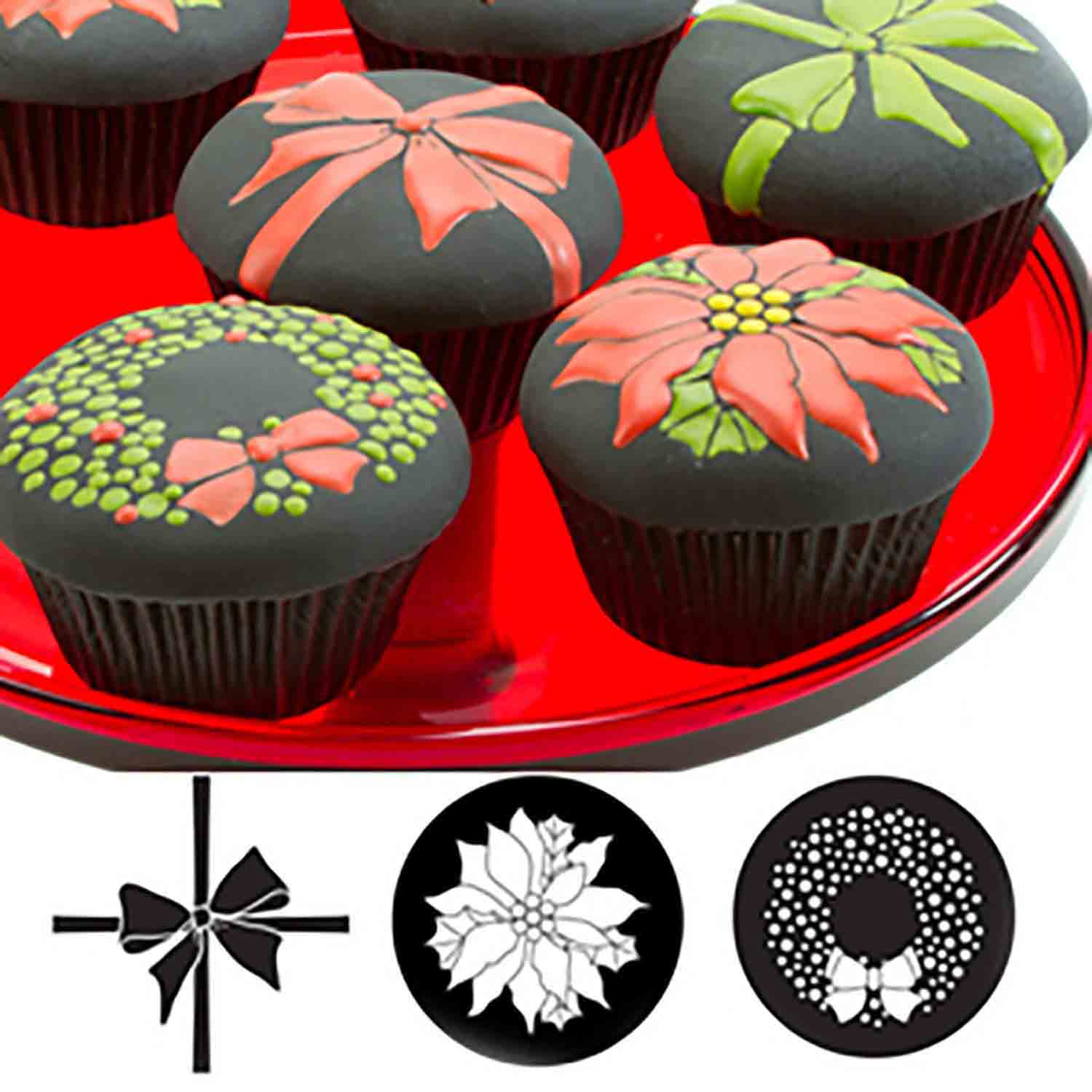 Christmas Cupcake and Cookie Texture Tops