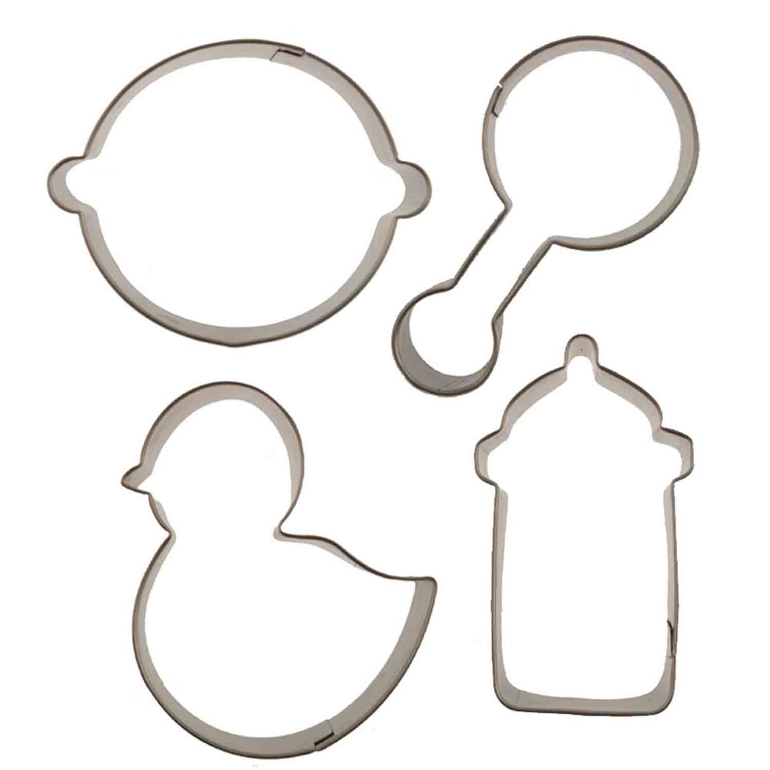 Baby Cutie Cupcake Cookie Cutters Set