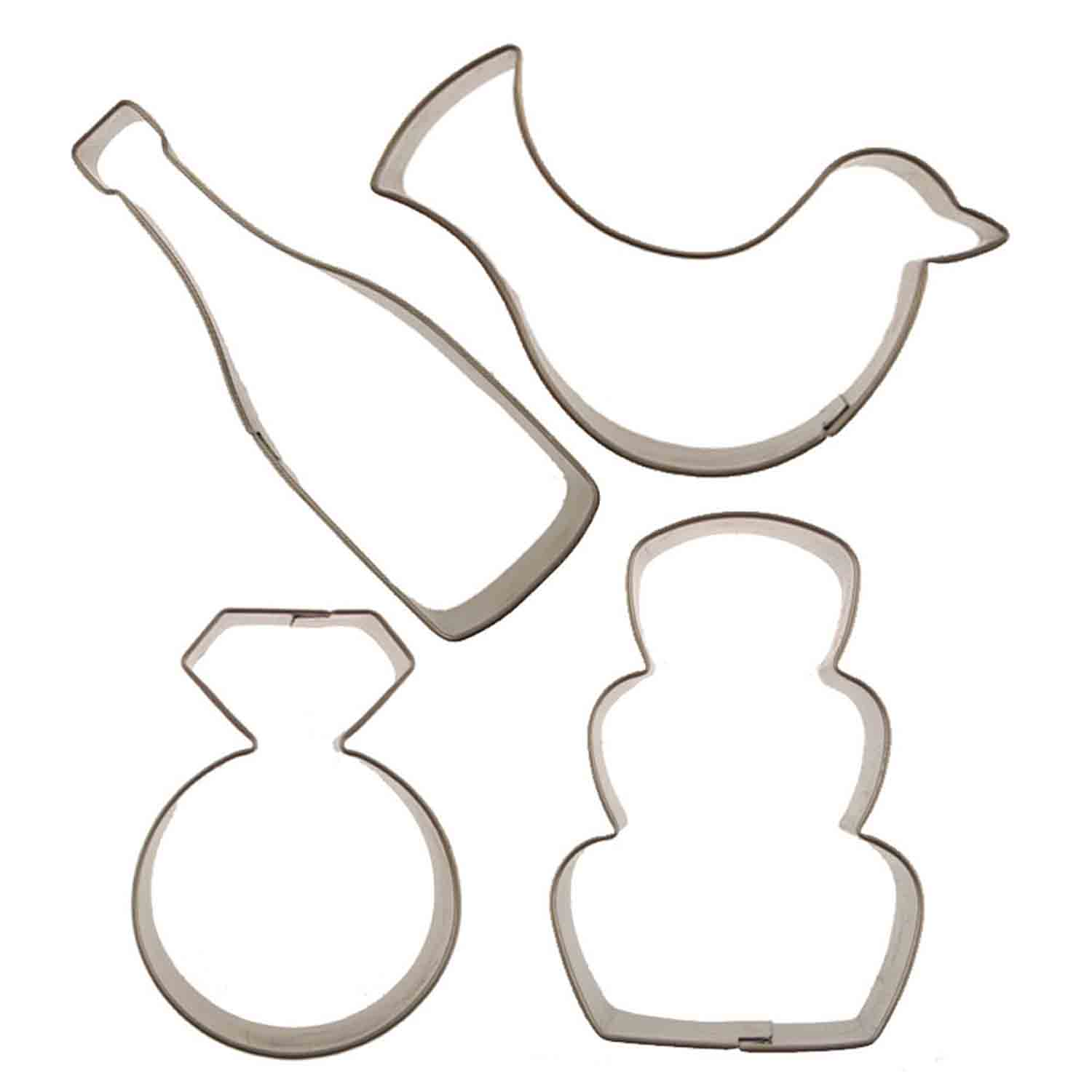Wedding Cutie Cupcake Cookie Cutters Set