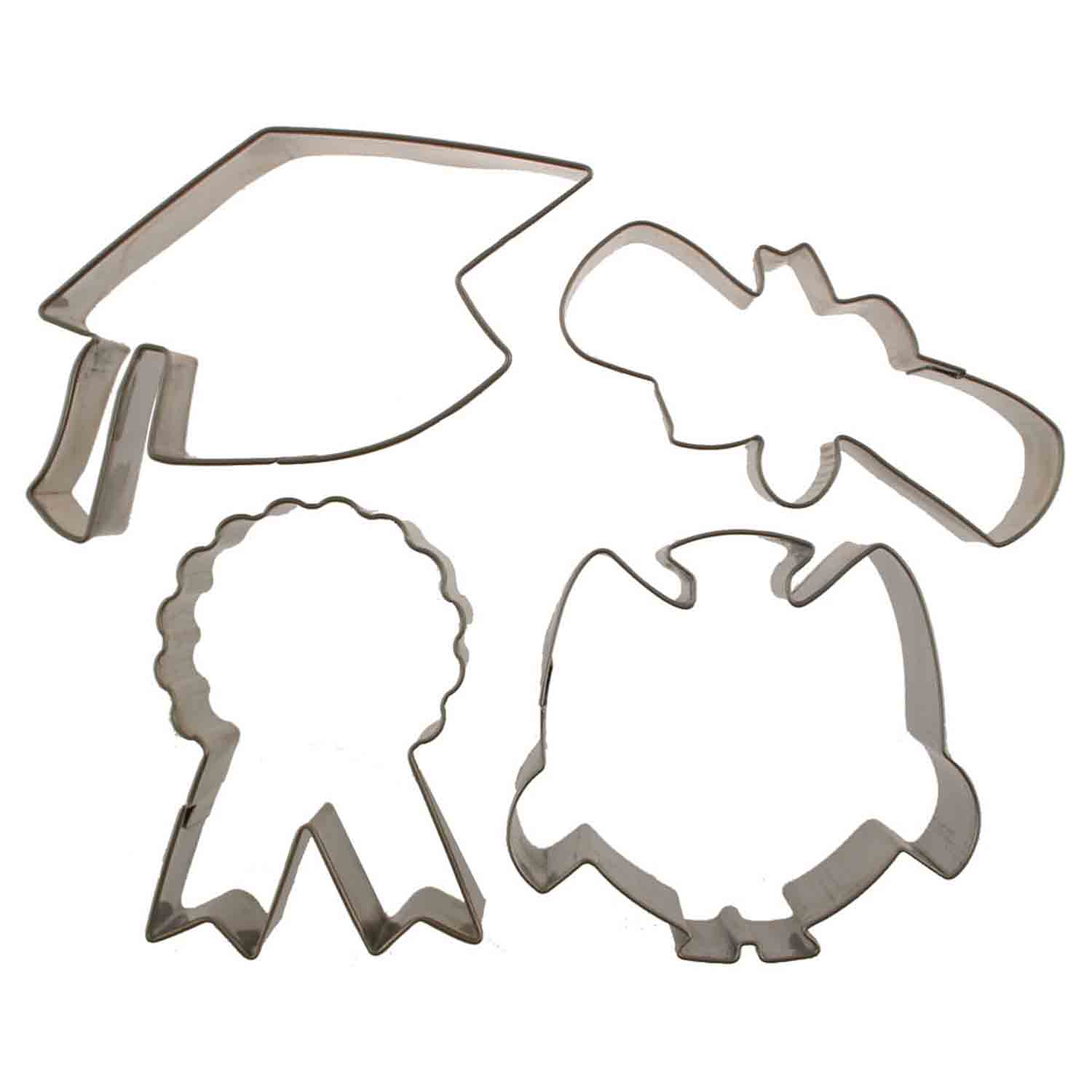 Graduation Cutie Cupcake Cookie Cutters Set