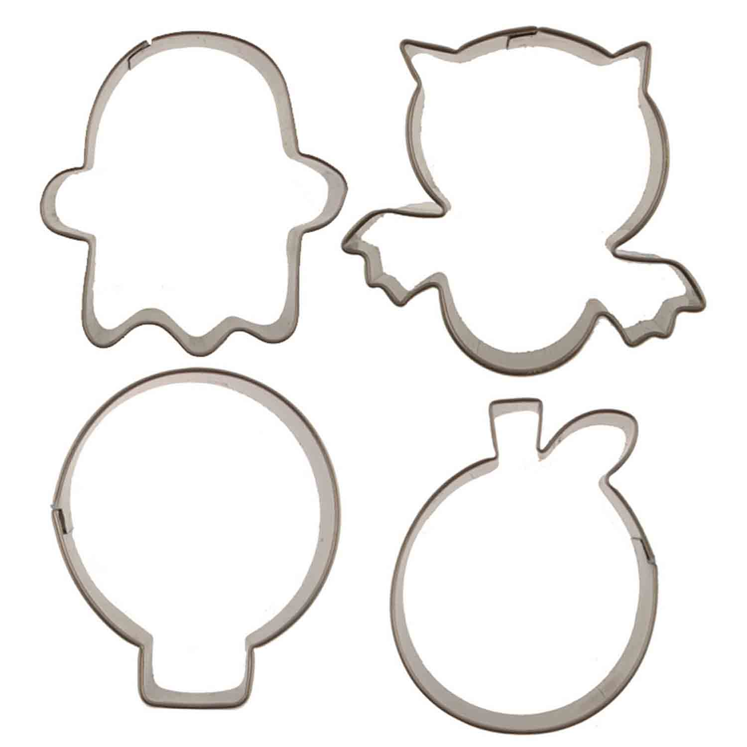 Halloween Cutie Cupcake Cookie Cutters Set