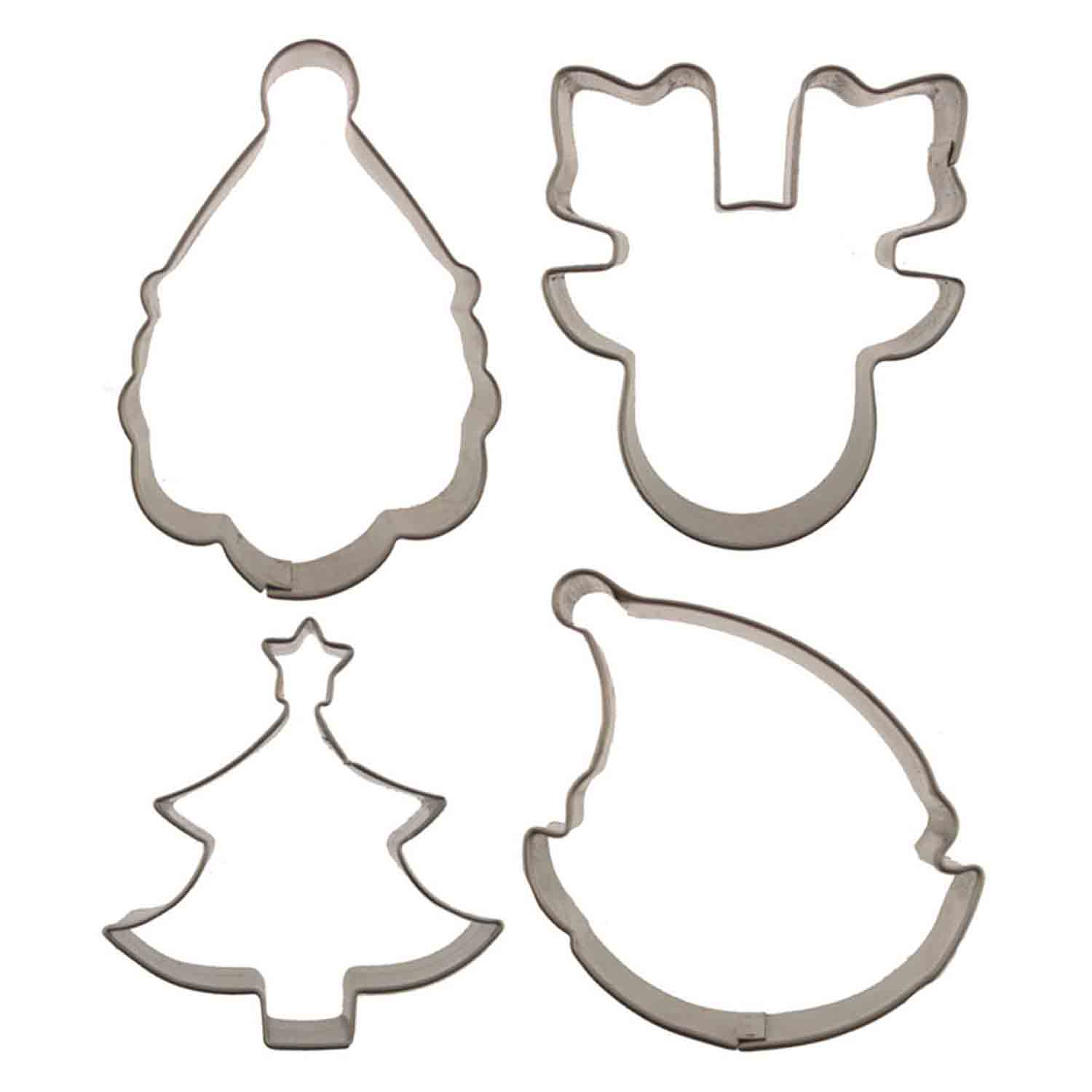 Christmas Cutie Cupcake Cookie Cutters Set