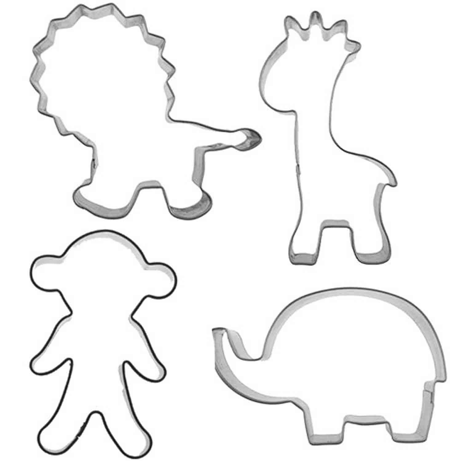 Jungle Cutie Cupcake Cookie Cutters Set