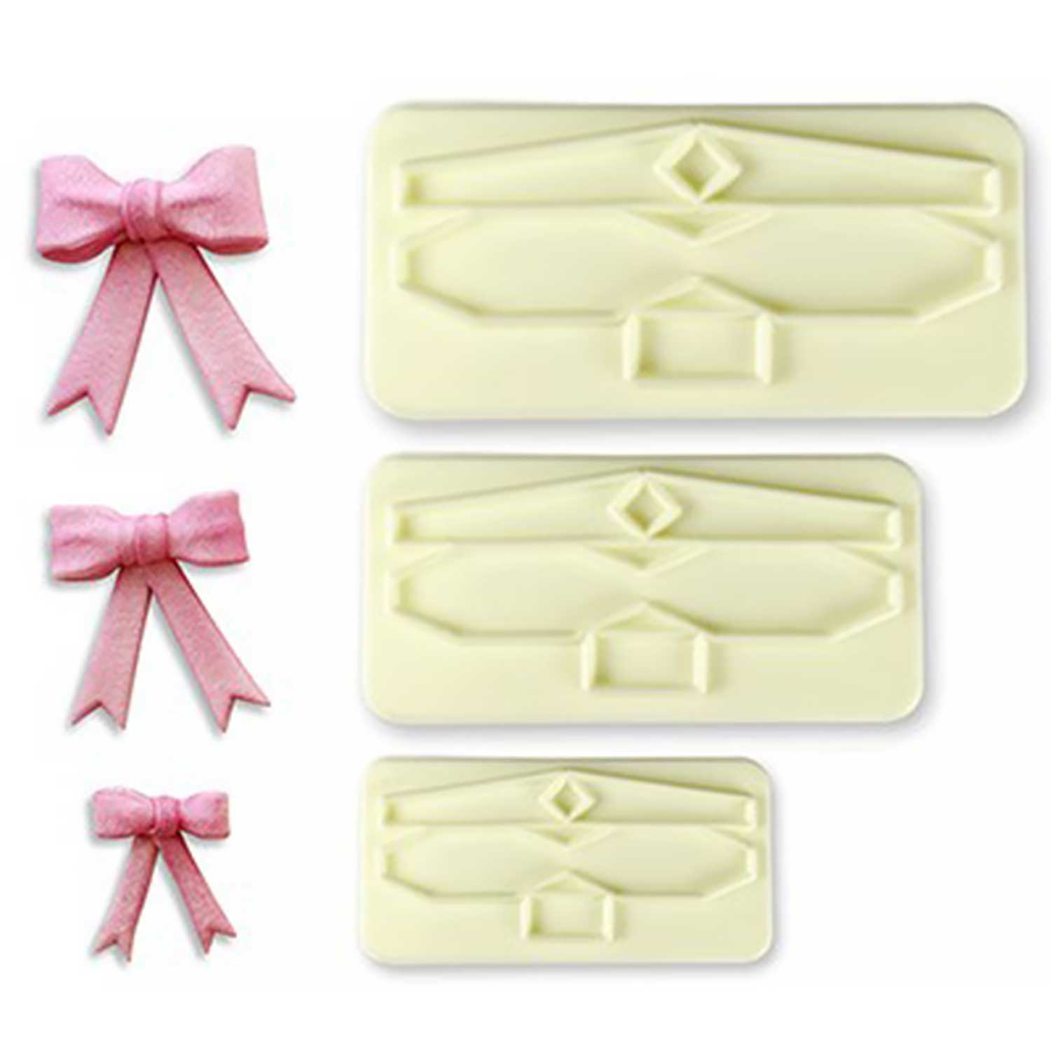 Gumpaste Cutter-Bow Set-Sizes 1, 2, 3