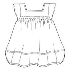 JEM Cutter-Embossed Baby Dress