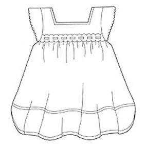 JEM Cutter-Embossed Baby Dress