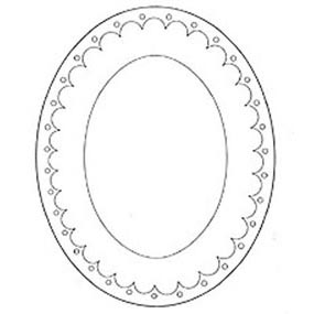 Jem Cutter-Large Oval Frame