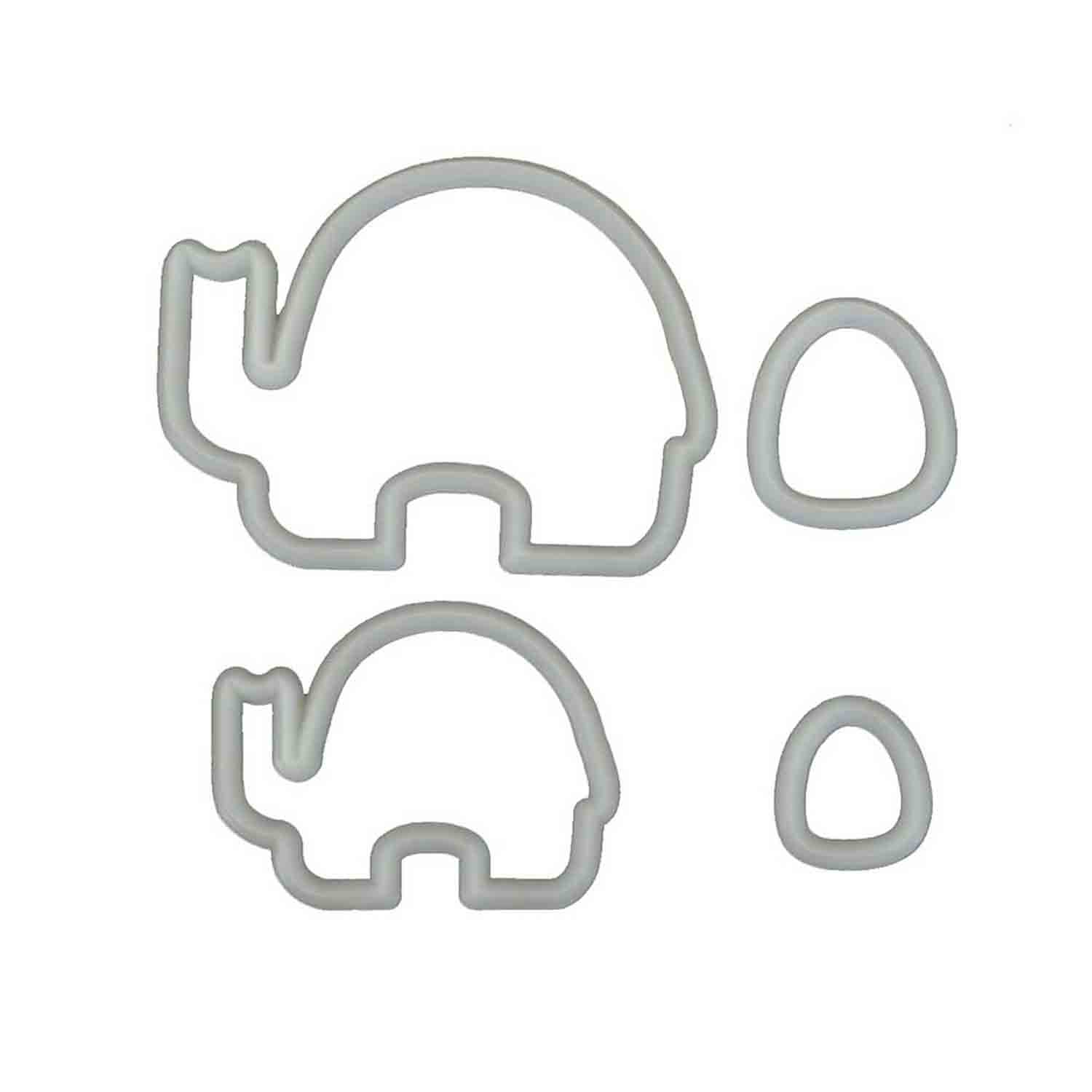 Mummy and Baby Elephant Cutter Set