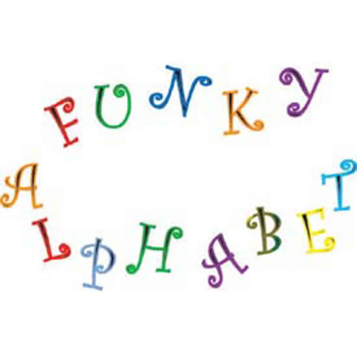 Funky Capital Alphabet and Number Cutter Set