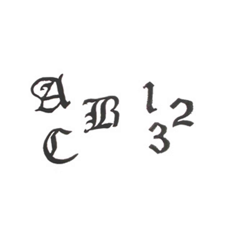 Old English Alphabet Upper Case Cutter Set