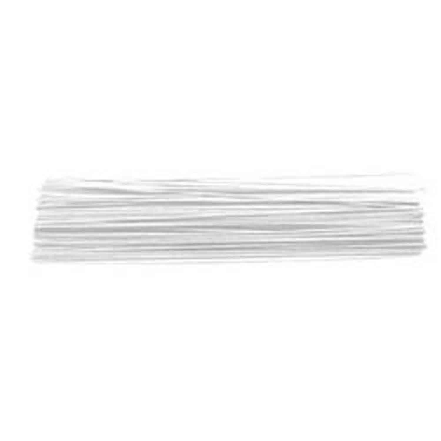 "28 Gauge White 14"" Covered Wire"