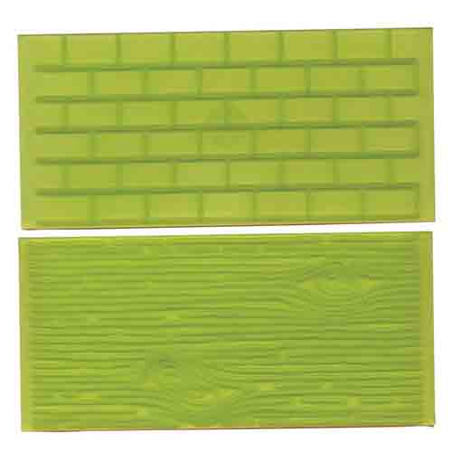 Tree Bark and Brick Impression Mat Set