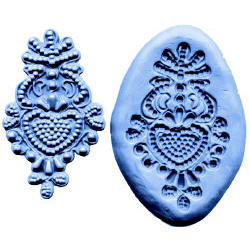Bead Design Medallion Lace-Silicone Mold