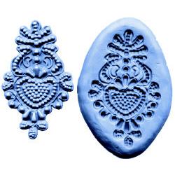 Bead Design Medallion Lace-Silicone Mold