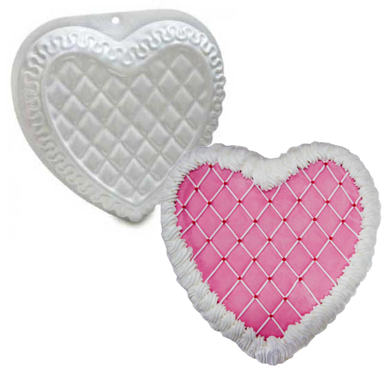 Fancy Heart Pantastic Plastic Cake Pan